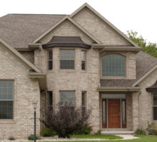 brick home entrance